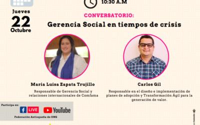 Conversatorio: Gerencia Social en tiempos de crisis