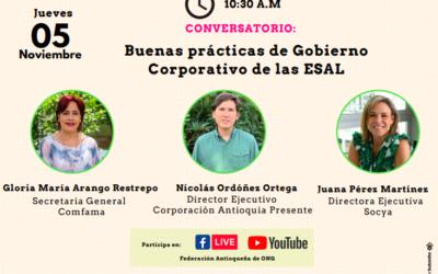 Conversatorio: Buenas prácticas de Gobierno Corporativo de las ESAL